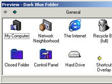 Dark Blue Folder