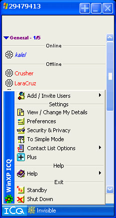 WinXP ICQ
