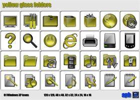 Yellow Glass Folders