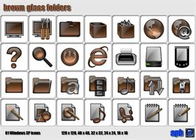 Brown Glass Folders