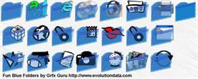 Fun Blue Folders