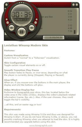 Leviathan Winamp Modern Skin (1.0b)