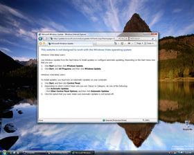 Windows Vista Update Error