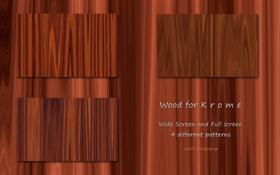 Wood for K r o m e