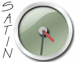 Green Satin Clock