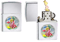 Painted Silver Dollar Lighter