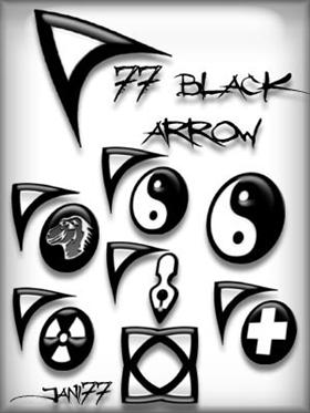 77 black arrow
