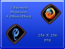 2 skewed browsers