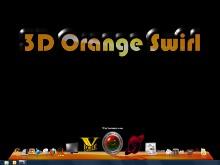 3D Orange Swirl