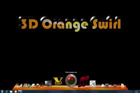 3D Orange Swirl