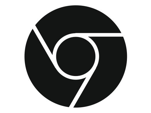 Google Chrome Icon Black