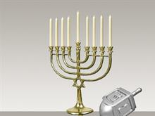 Hanukkah and Friends - Menorah (Hybrid)
