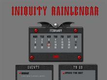 Iniquity Rainlendar