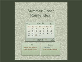 Summer Green Rainlendar