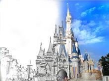 Cinderella's Castle...half sketch