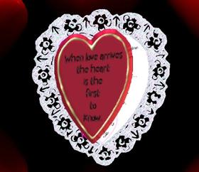 Lace Heart Valintine Card