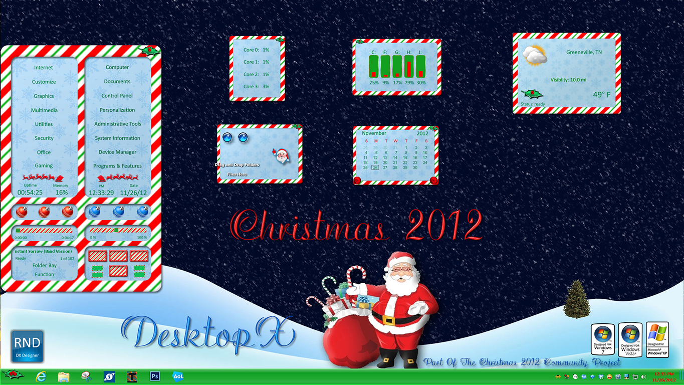 Christmas 2012 Sidebar DX