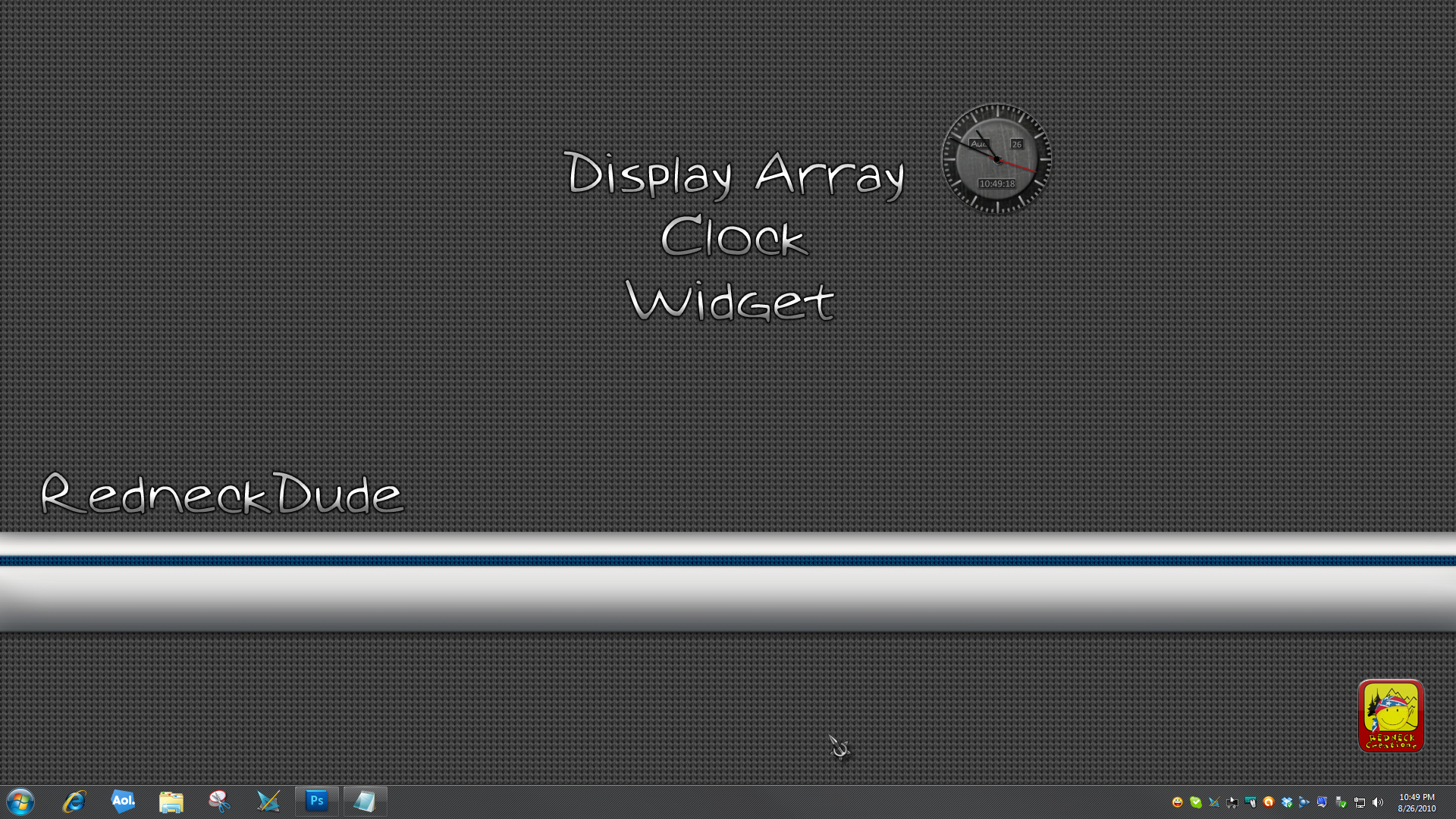 Display Array Clock Widget