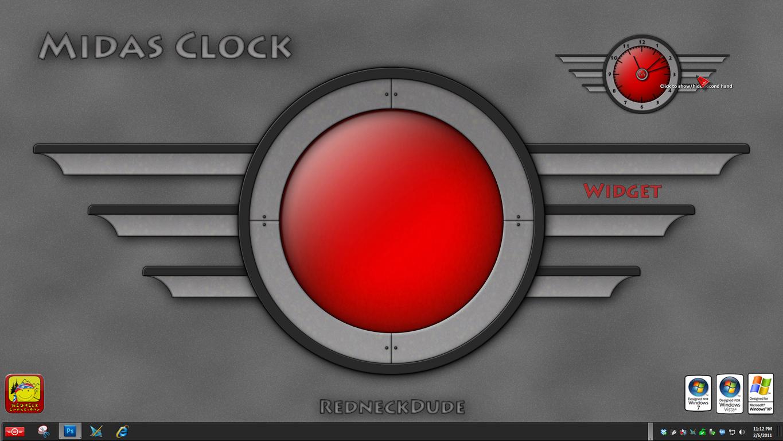 Midas Clock Widget