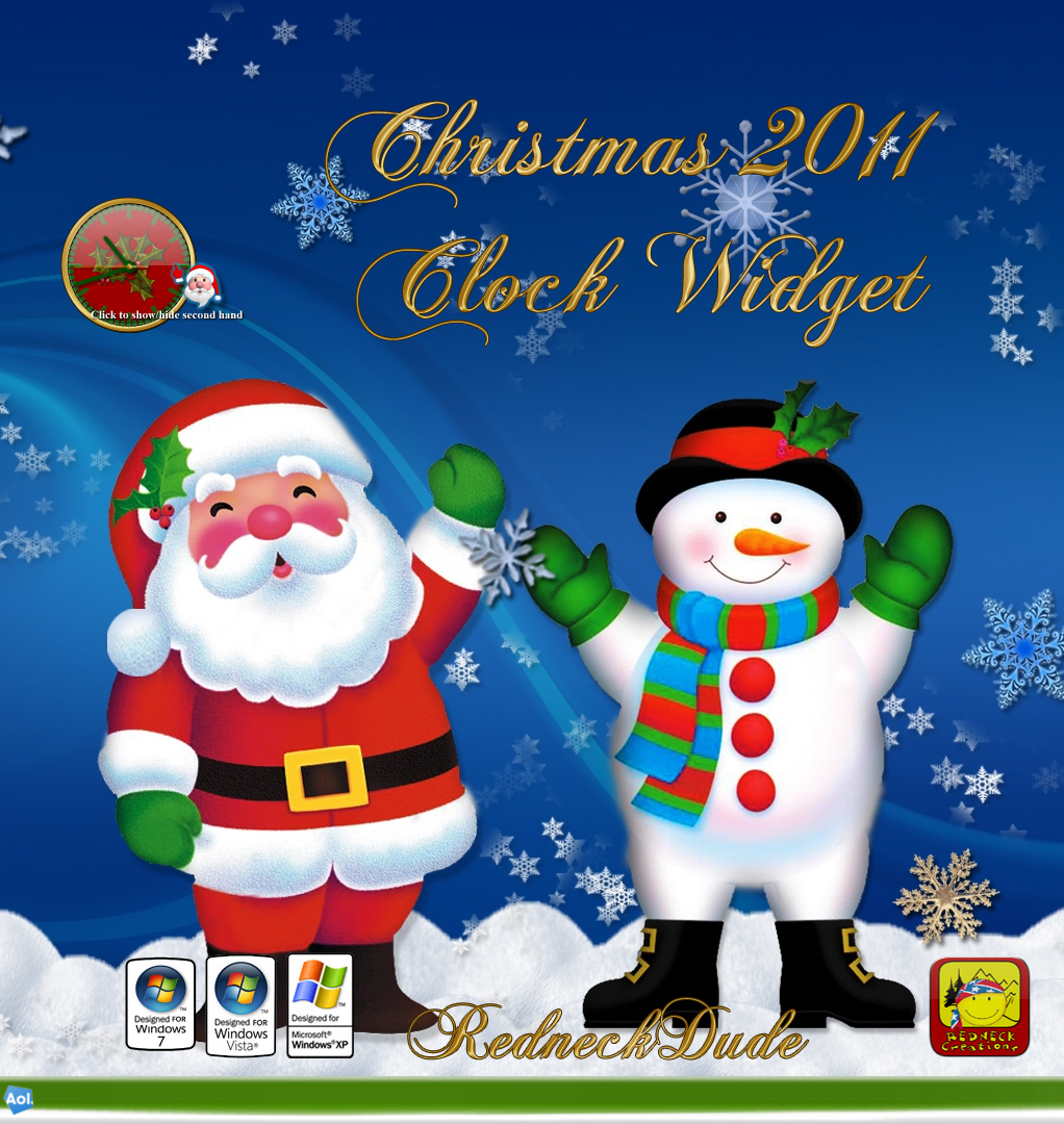 Christmas 2011 Clock Widget