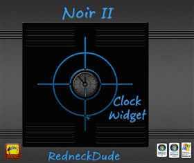 Noir II Clock Widget
