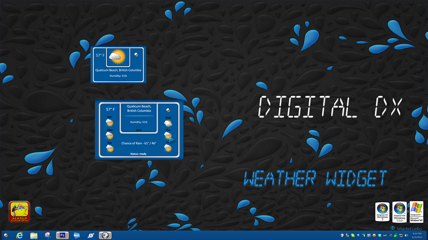 Digital Weather Widget