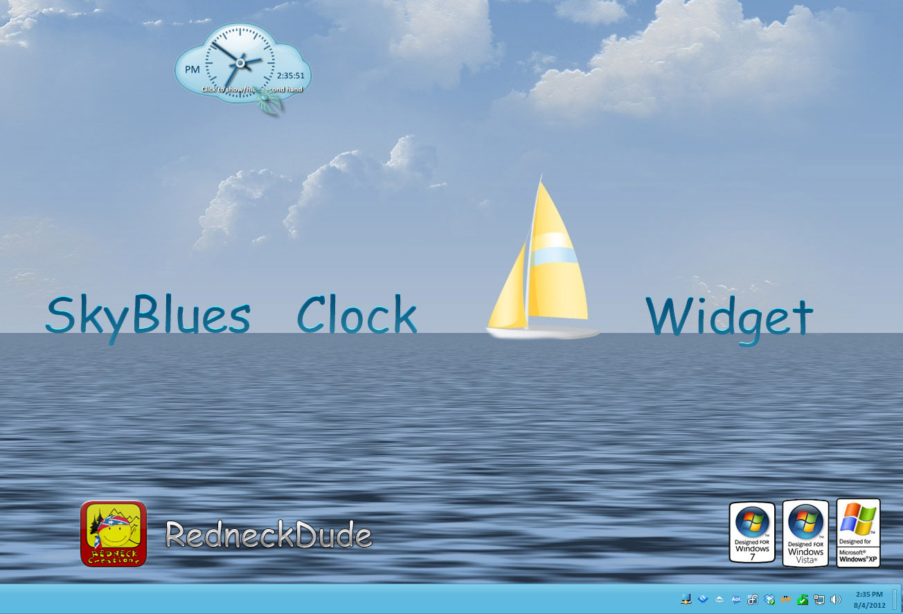 SkyBlues Clock Widget