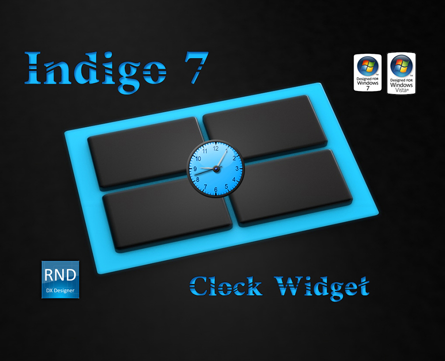 Indigo7 Clock Widget
