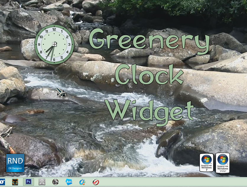 Greenery Clock Widget