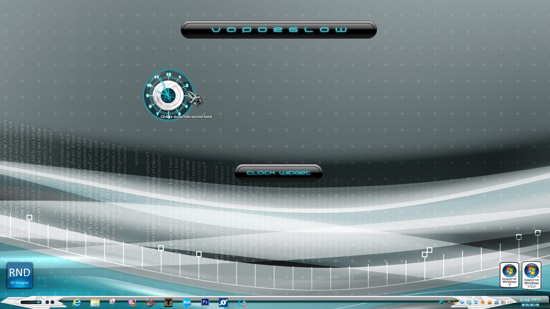 Vaporglow Clock Widget