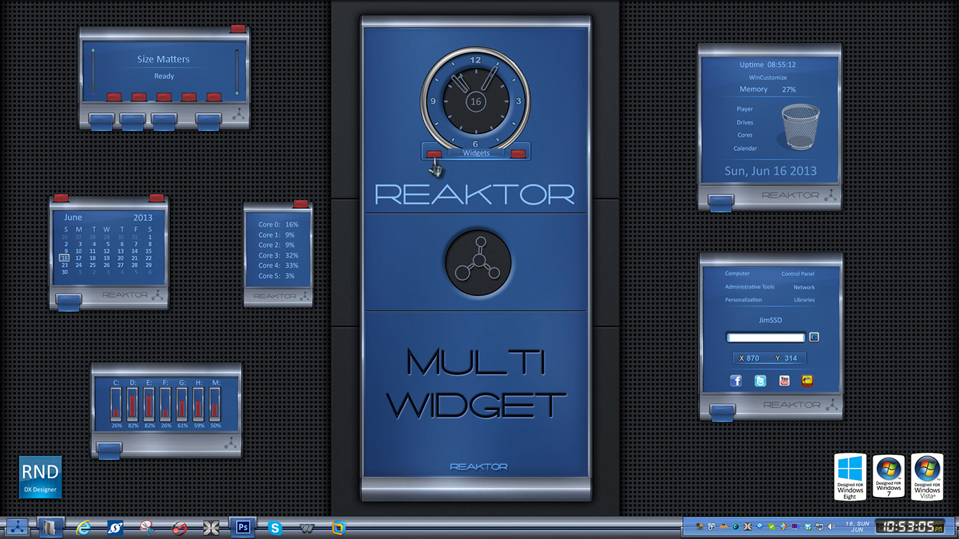 Reaktor Multi Widget