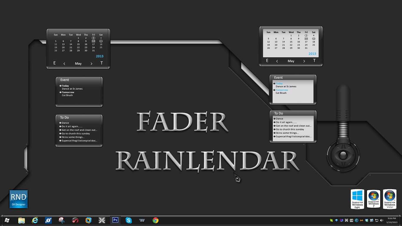 Fader Rainlendar