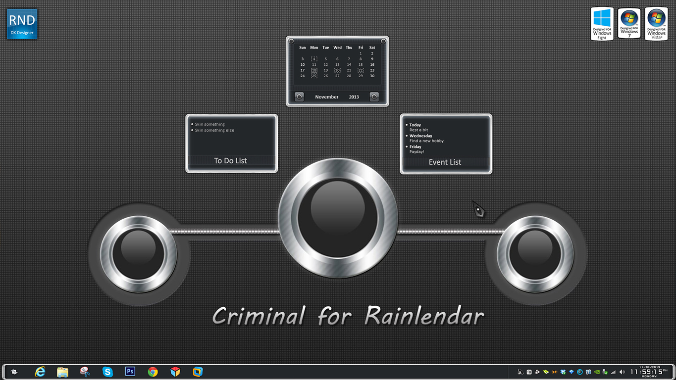 Criminal Rainlendar