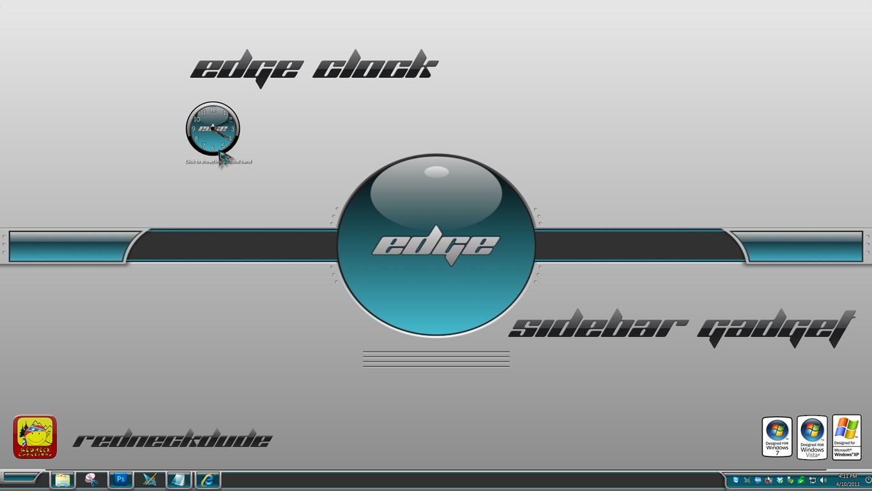 Edge Clock Sidebar Gadget