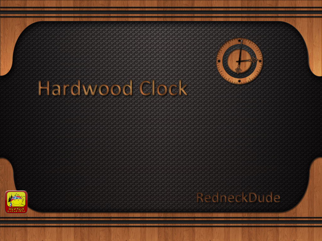Hardwood Clock Gadget and Widget
