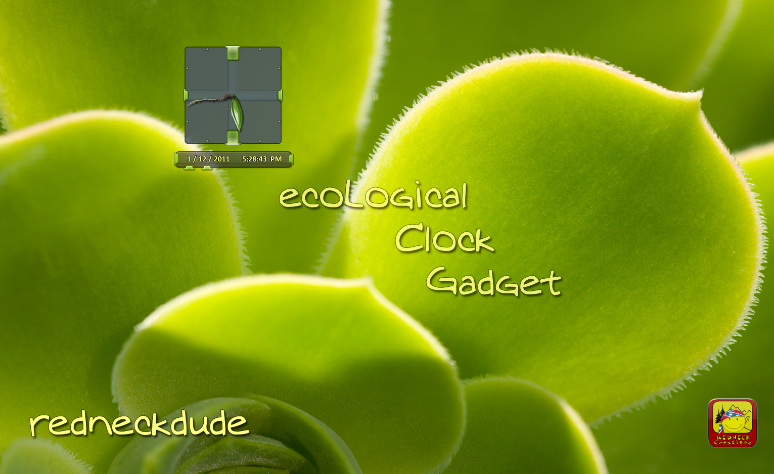 ecoLogical Clock Gadget