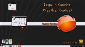 Tequila Sunrise Weather Gadget