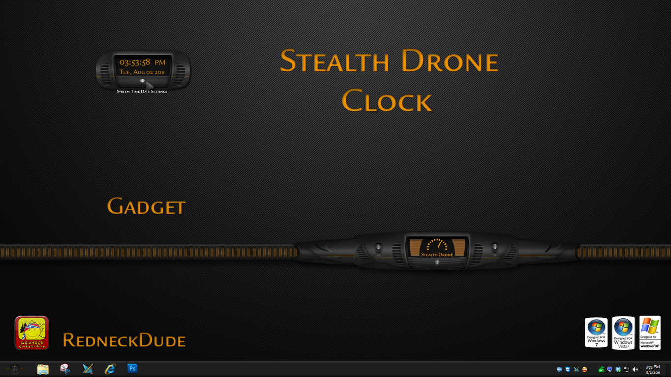 Stealth Drone Clock Gadget