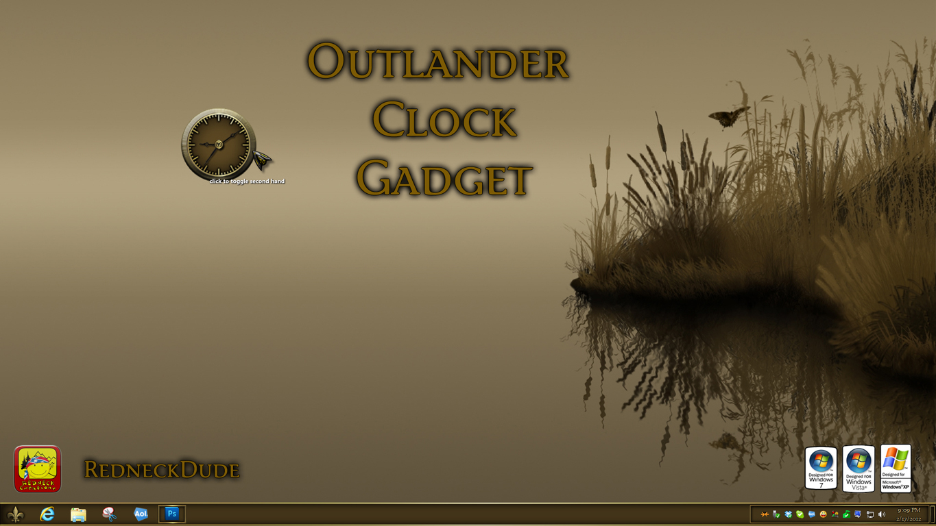 Outlander Clock Gadget