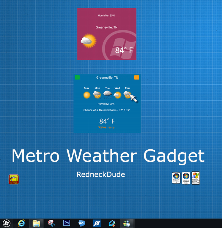 Metro Weather Gadget