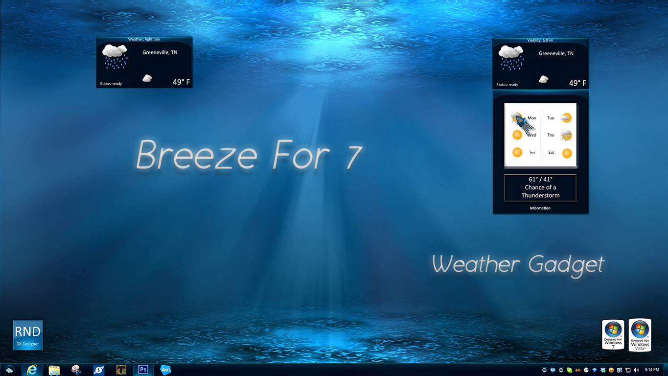 Breeze For 7 Weather Gadget