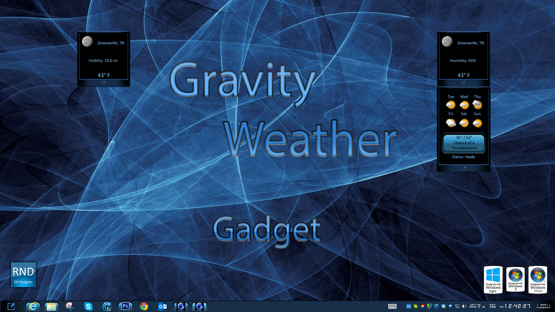 Gravity Weather Gadget