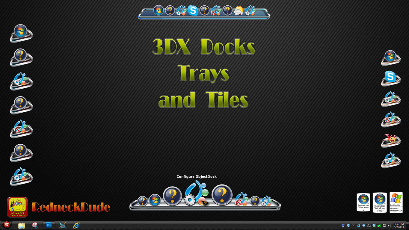 3DX Docks Trays and Tiles