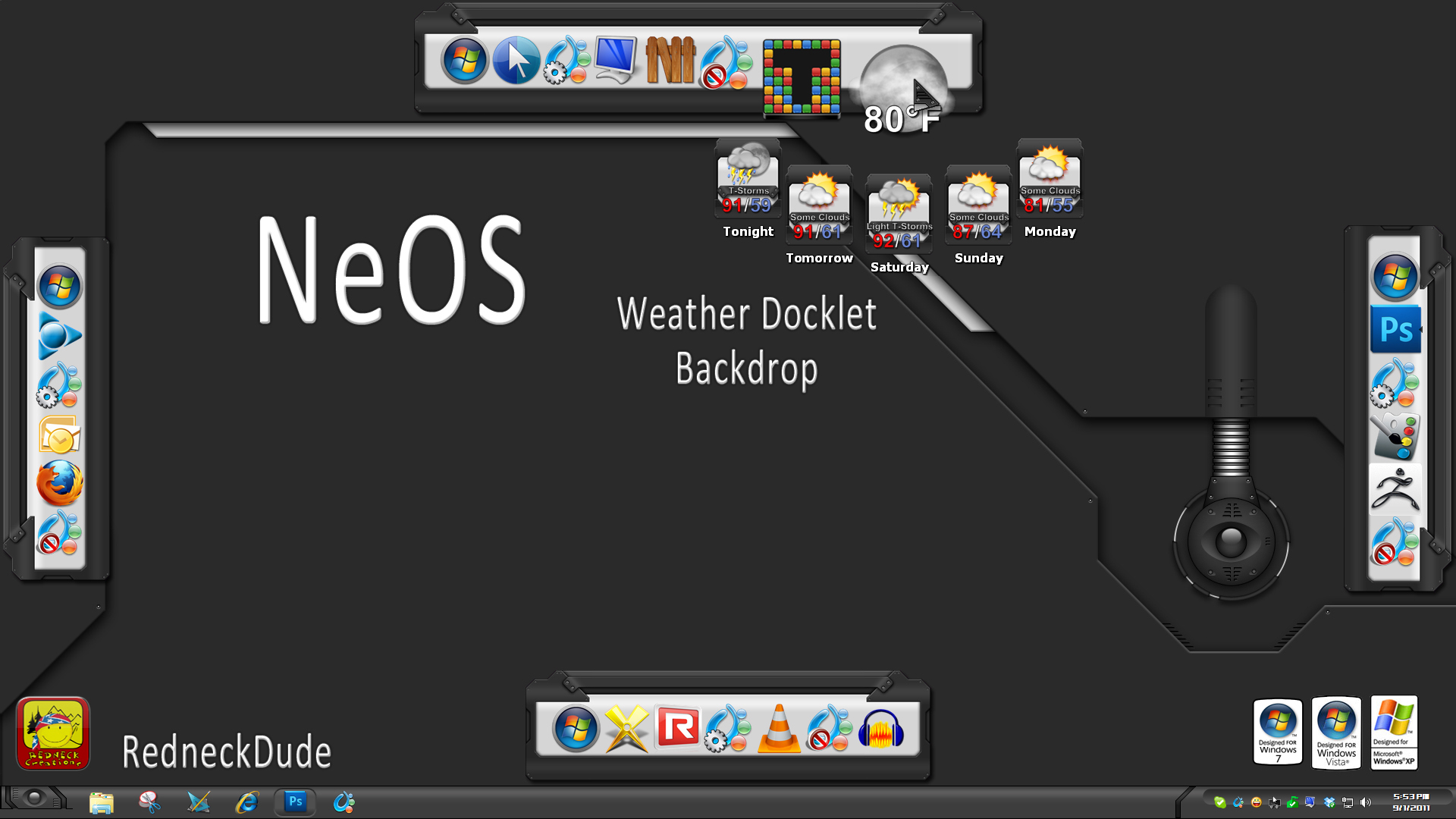NeOS Weather Docklet Backdrop