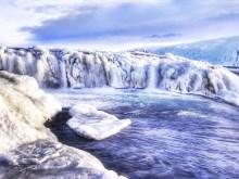 Icy Stream Waterfalls at Gulfoss