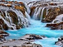 Bruarfoss Waterfalls Iceland