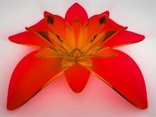 glass flower red