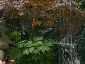 temple garden waterfall