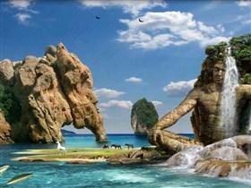 the mayan waterfall
