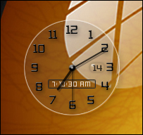 See through clock